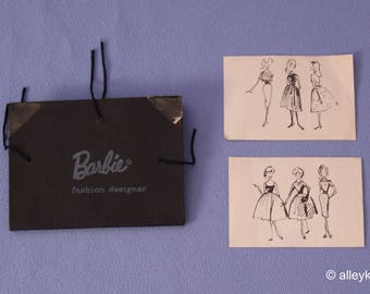 Vintage Barbie Hard to Find Busy Gal Portfolio and Sketches, Fashion #981, Near Mint