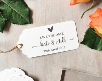 Modern Save The Date Wedding Stamp | Custom Wedding Stamp - Modern Calligraphy - Wedding Stationery