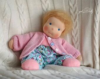 Nina 33 cm waldorf handmade doll for girls