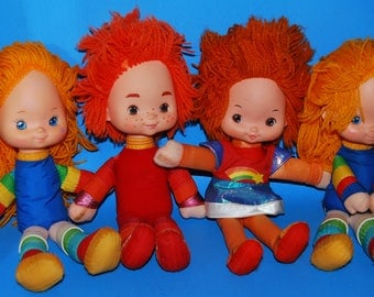 Vintage Lot of 4 Rainbow Brite Dolls (and friends)