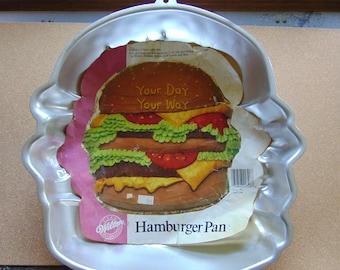 1986 Wilton hamburger cake pan birthday Your Day Your Way celebration