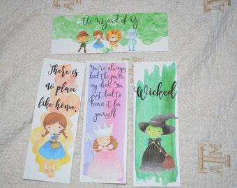 The Wizard of Oz Inspired bookmarks