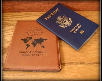 Passport cover leather personalized passport holder custom world map passport cover leather personalized passport holder custom travel case holder gumiabroncs Image collections