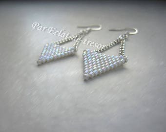 Triangle handwoven earrings