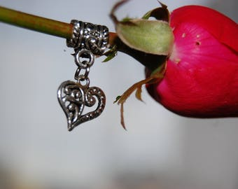 LOVELY CHARM TUBE AND HEART CHARM