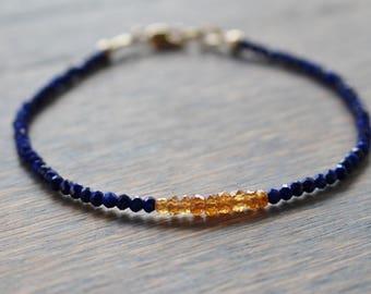 Lapis Bracelet, Garnet Bracelet, Gemstone Beaded Bracelet, Boho Chic Gemstone Bracelet, Womens Bracelet, Gift For Her, Beaded Bracelet