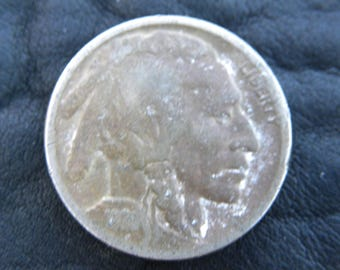 1920  US circulated  authentic vintage Buffalo Indian Nickel coin full date A126