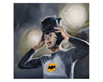 West's Mask - Adam West Superhero Batman's Cowl Art Print