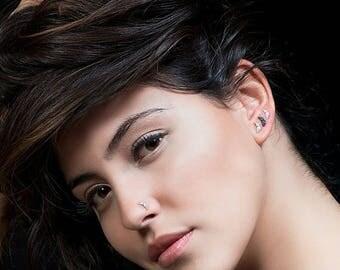 SALE15% Tiny earrings , tiny silver earrings , moon earrings , small silver earrings , small stud earrings, tiny  stud earrings, tiny moon