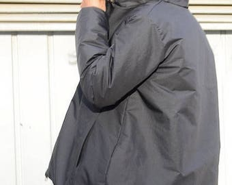 SALE 25% OFF Winter Jacket Fox Fur, winter coat, black jacket, fox fur hood, black winter coat,