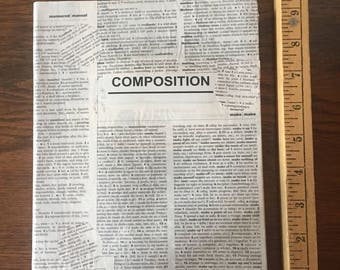 Book Page Composition Notebook