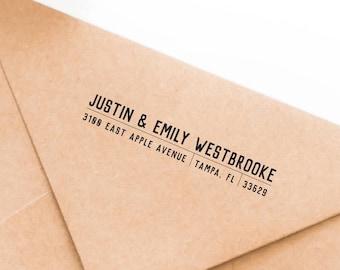 Return Address Stamp, Self-Inking Address Stamp, Wedding Invitation Stamp, Save the Date, Personalized Address Stamp - Custom Address No 152