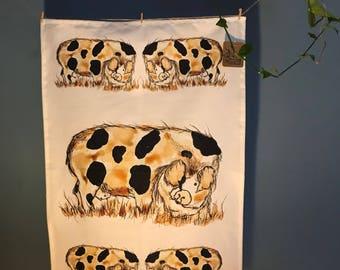 Gloucestershire Old Spot Tea Towel