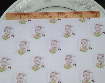 "Unicorns fabric felt 5.5""x11"" sheet"