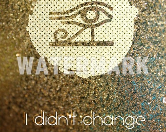 I didn't change, I just woke up - Motivational Quote Poster - Art Print Photo Gift - Third Eye Illuminati Conspiracy Theory Woke