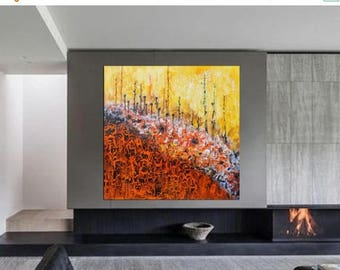 ON SALE modern abstract painting art original large artwork wall decor canvas modern wall  art abstract flowers one of a kind artwork  free