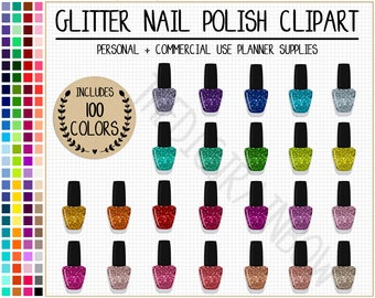 SALE 100 NAIL POLISH clipart glitter nail polish planner stickers makeup stickers rainbow cosmetics sticker makeup clipart beauty clipart