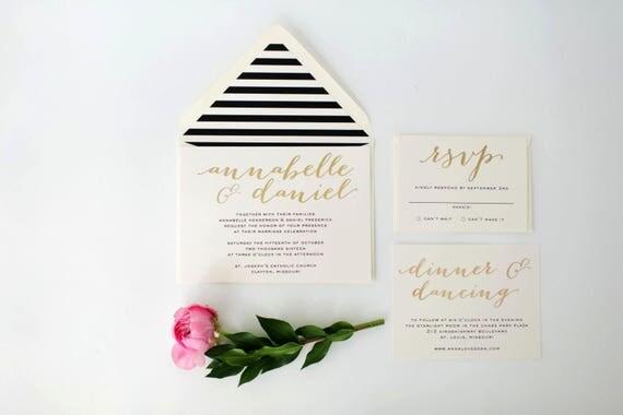 custom listing for caitlin - annabelle wedding invitation