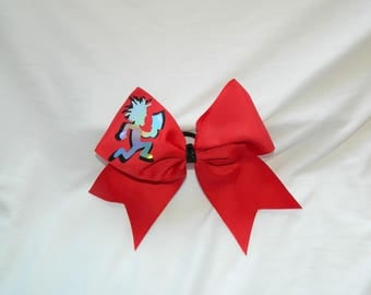 ICP Insane Clown Posse Holographic Hatchetman in Red Cheer Bow Hair Bow