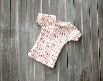 Minifee T-Shirt in Pink with Bunnies