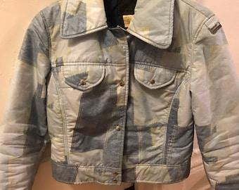 Vintage Denim Print 70s/80s Jacket