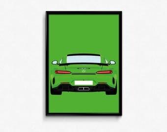 Mercedes Benz AMG GTR A3 Print