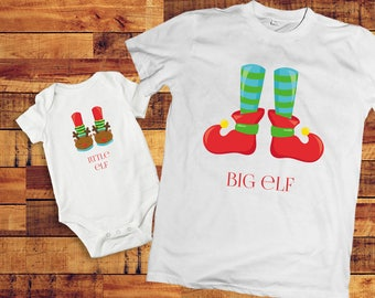 Christmas Eve box, Christmas Elf, Sibling outfits, sibling shirts, Kids matching outfits, sibling shirt sets, Christmas in July