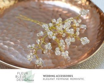 rhinestone hair pins | crystal hair pin | gold hair pins | bridal hair pins | wedding hair pins |  bridal pearl hairpiece