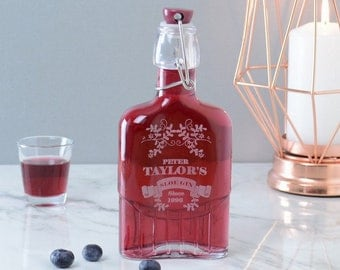 Sloe Gin Personalised Engraved Kilner Bottle