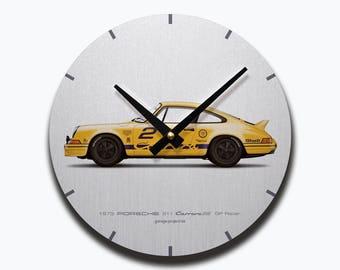 1973 Porsche 911 Carrera RS (GP Edition) illustration Wall Clock