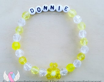 Teddy Bear - Personalized Handmade Bracelet - YELLOW