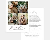 Print Release Flat Card - Photography Template - Photography Print Release Card - 001