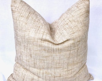 Free shipping/ LINEN PILLOW Cover 20x20 inches-BEIGE-Throw pillow-Decorative pillow-Accent pillow-Square