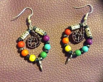 Boho Circle of Energy Earrings
