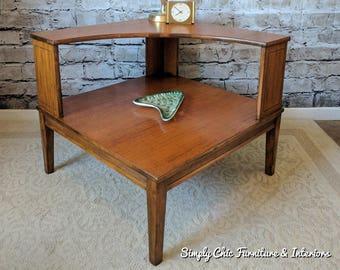 COOL Solid Wood Mid Century Corner Table