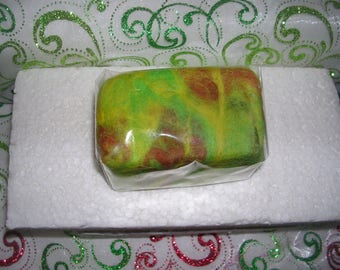 Felted soaps - WINNIPEG - yellow to lime green/gold / copper