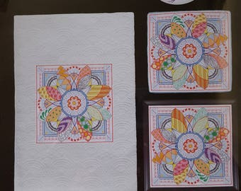 Dazzling Doodles 3:  Artiste Stamped Cross Stitch Kit
