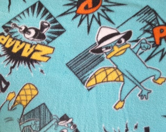 Perry the Platypus Antipill Fleece Fabric Sold by the Yard