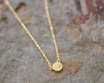 Mini Pave Necklace