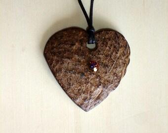 Collier coeur de coco 2