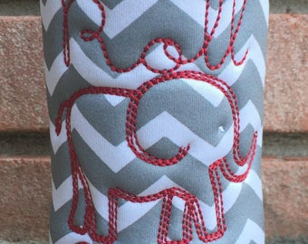Elephant Roll Tide Water Bottle Hugger