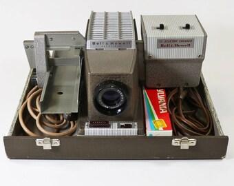 Vintage Bell & Howell Headliner Slide Projector w/ Remote Electric Slide Changer