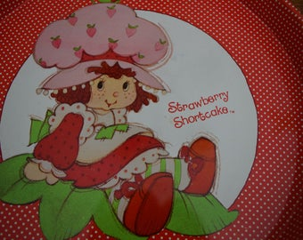 Strawberry Shortcake Tin Serving Tray Cheinco Housewares 1980's