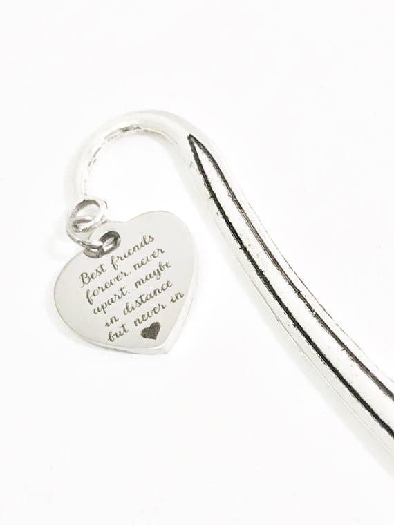 Best Friends Forever Heart Bookmark, BFF Reader Gift, Best Friends Never Apart, Best Friend Gift, BFF Gift, Best Friend Moving Away Gift