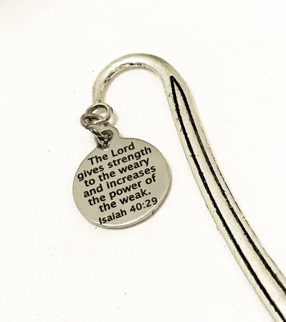 Bible Verse Bookmark, Isaiah 40:29 Bookmark, The Lord Gives Strength And Power Bookmark, Christian Reader Gift, Encouraging Bible Bookmark
