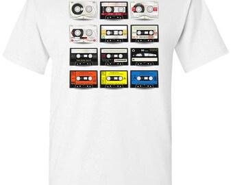 Cassette Tapes Men's White T shirt