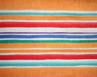 Placemat laminated fabric look orange red and green