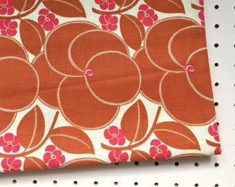Amy Butler Heart Bloom fabric in nutmeg from the Hapi collection.