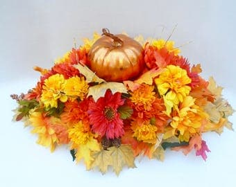 Fall Centerpiece , Dining Table Centerpiece, Autumn Centerpiece, Thanksgiving Arrangement, Thanksgiving Dining Table Floral