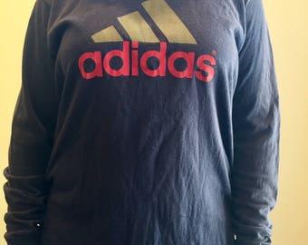 Vintage Adidas long sleeve T shirt // size L